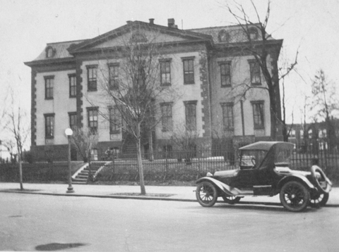 Undated photograph of the North side of the Old Naval Hospital