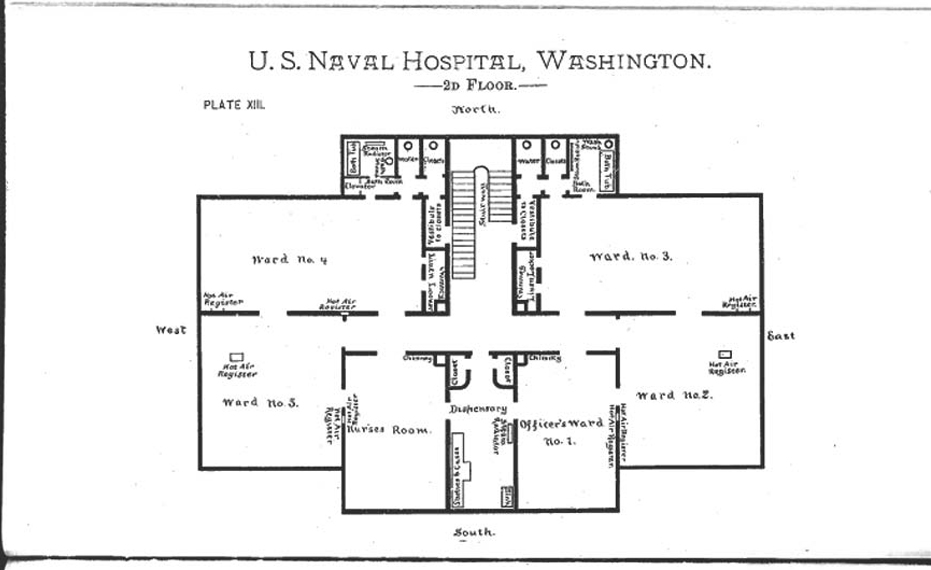 2nd floor plan literature notes on naval hospitals medical schools and training schools for nurses by dr james - Second Floor Floor Plans
