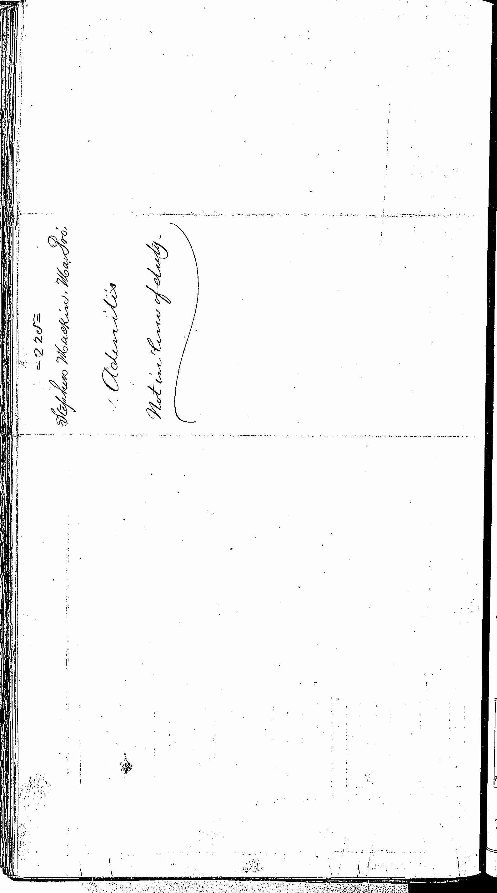Entry for Stephen Mackin (page 2 of 2) in the log Hospital Tickets and Case Papers - Naval Hospital - Washington, D.C. - 1866-68