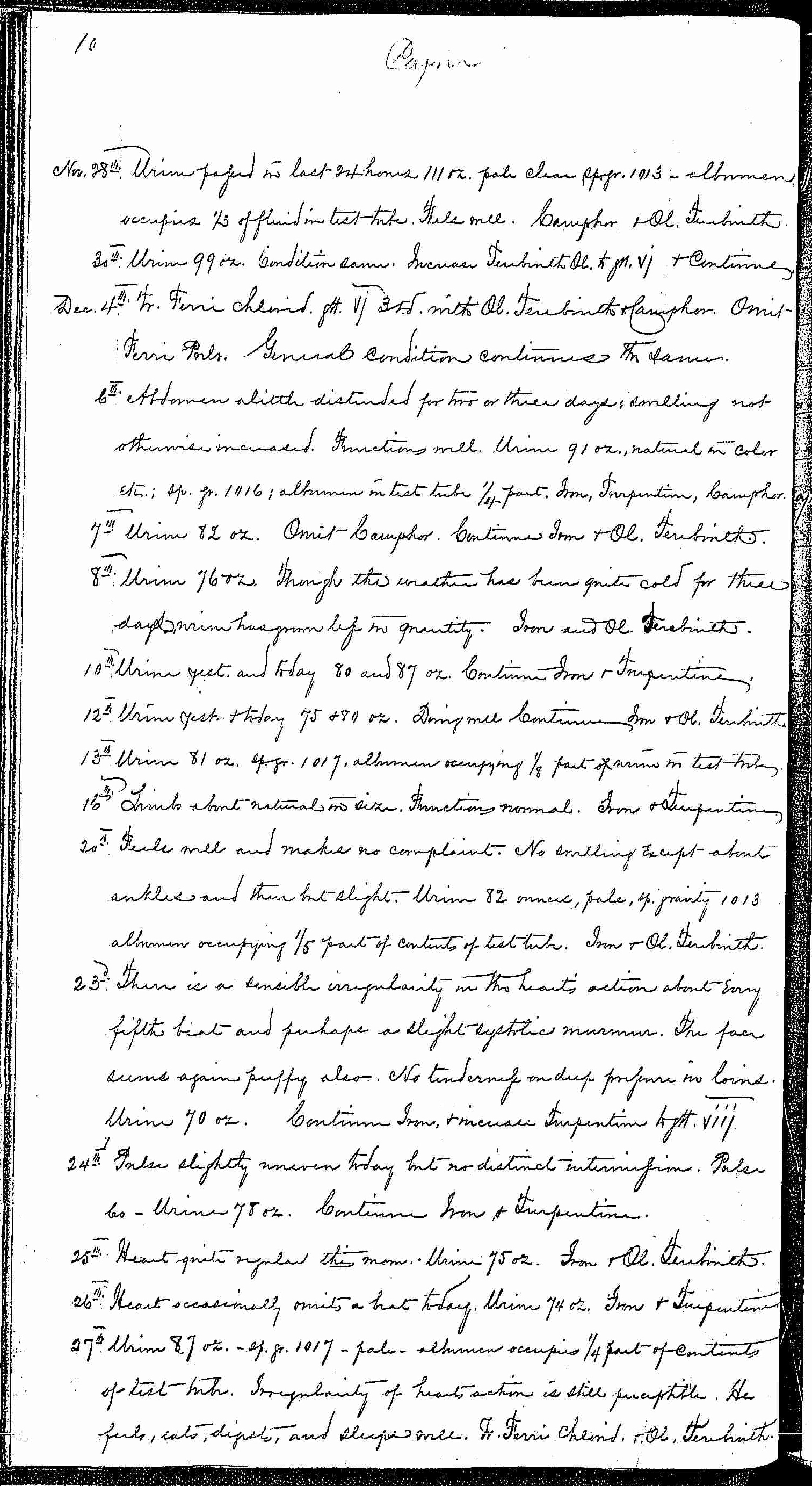 Entry for Bernard Coyne (page 10 of 13) in the log Hospital Tickets and Case Papers - Naval Hospital - Washington, D.C. - 1868-69
