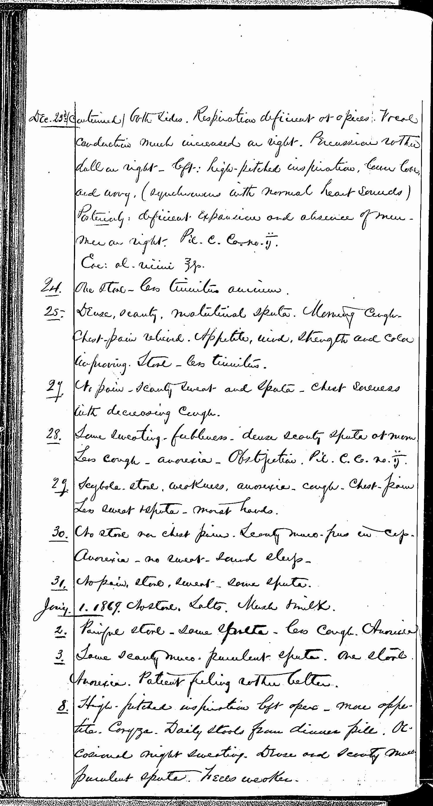 Entry for Peter C. Cheeks (page 4 of 16) in the log Hospital Tickets and Case Papers - Naval Hospital - Washington, D.C. - 1868-69