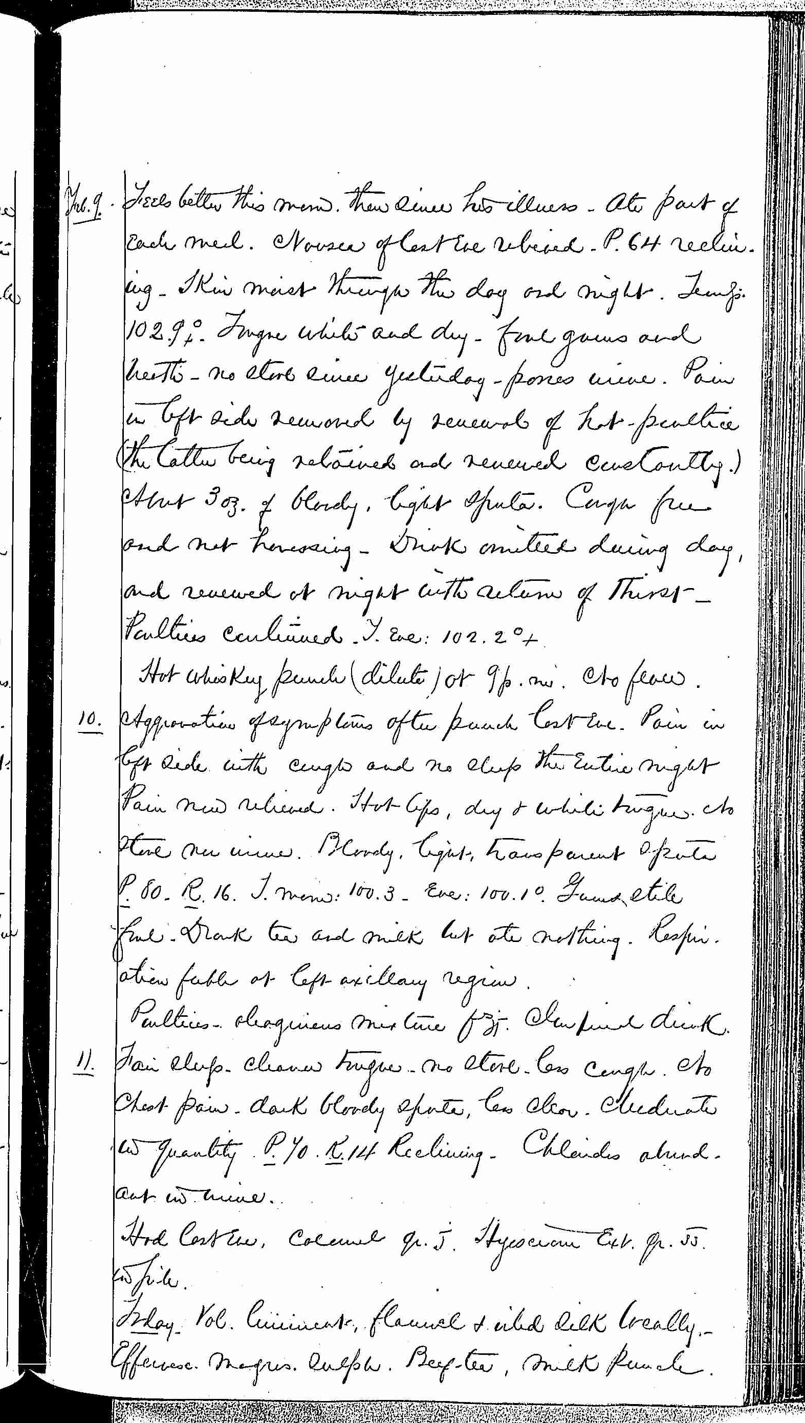 Entry for Theodore C. Waltenberg (page 3 of 4) in the log Hospital Tickets and Case Papers - Naval Hospital - Washington, D.C. - 1868-69