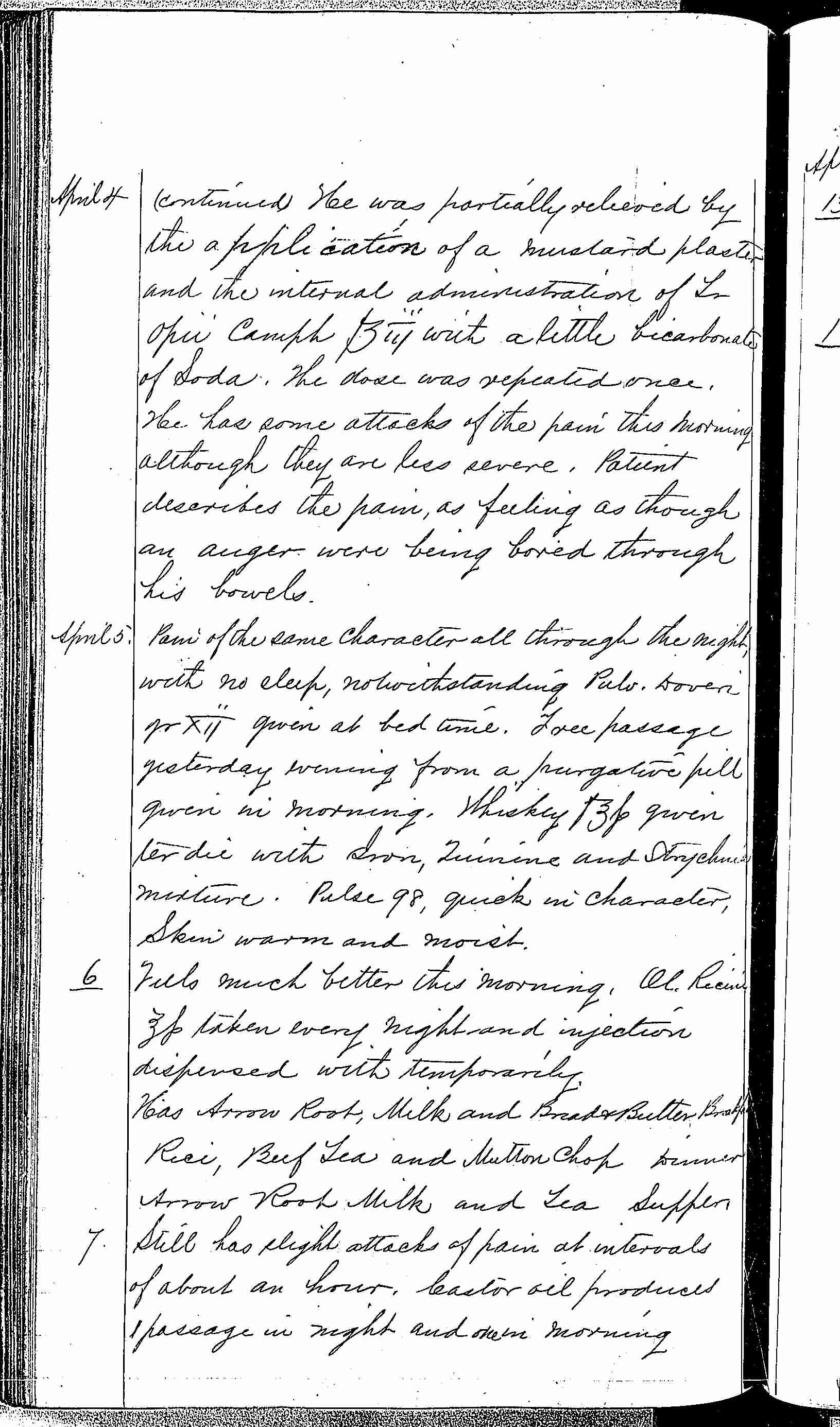 Entry for William Brady (page 4 of 5) in the log Hospital Tickets and Case Papers - Naval Hospital - Washington, D.C. - 1868-69