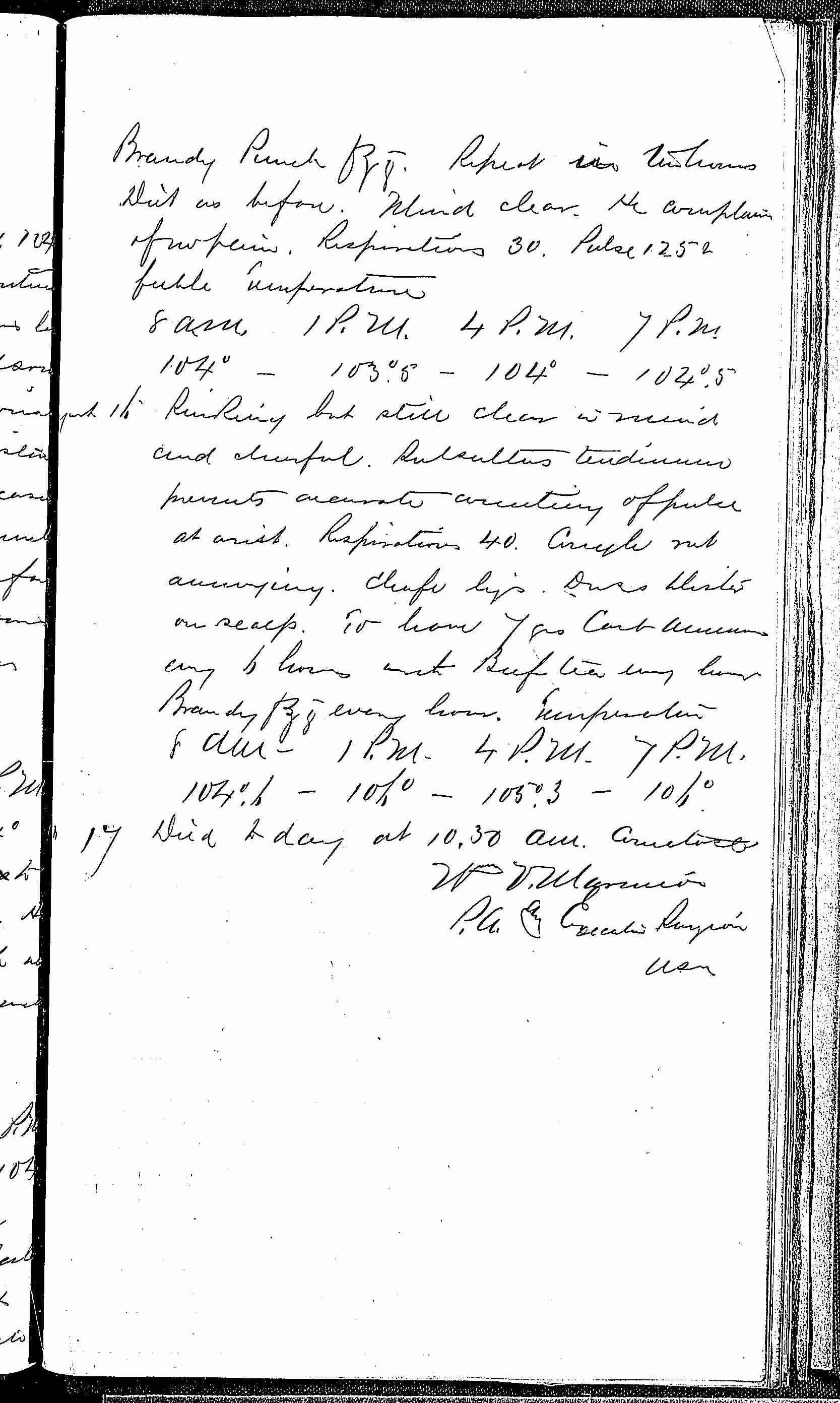 Entry for William Hack (page 7 of 7) in the log Hospital Tickets and Case Papers - Naval Hospital - Washington, D.C. - 1868-69