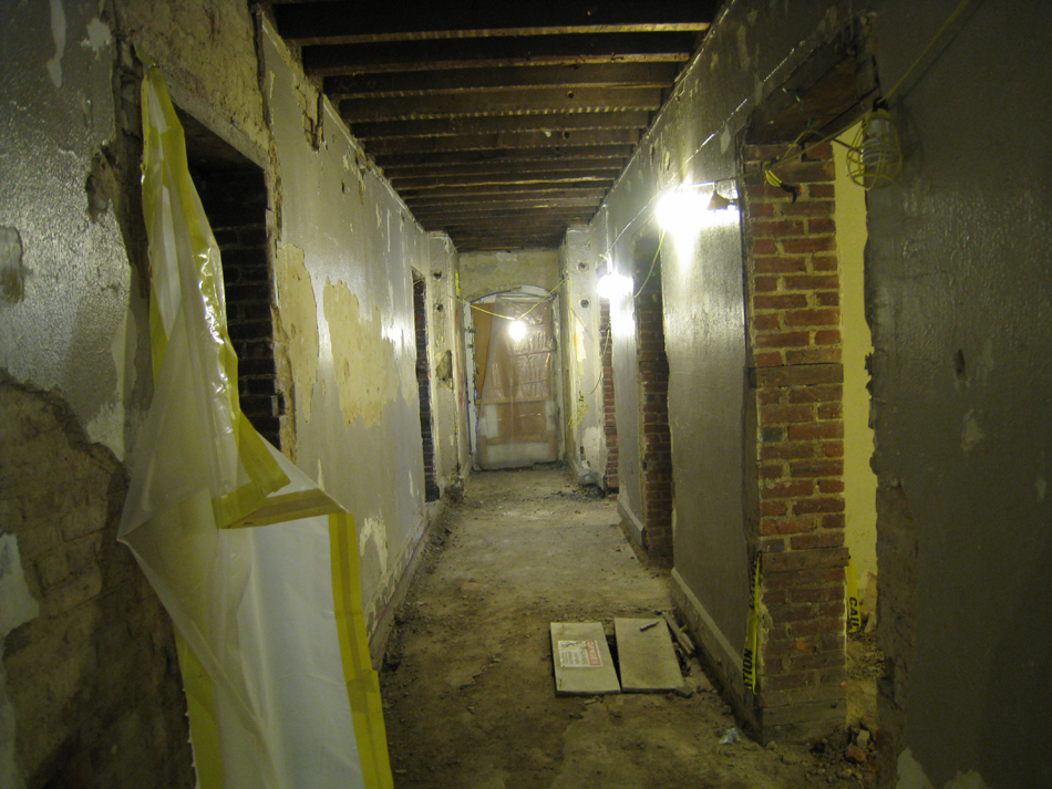 Basement Corridor Looking West