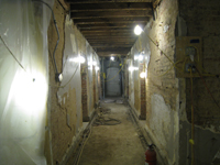 Ground Floor (Basement) Corridor Looking East - July 27, 2010