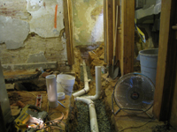 Ground Floor (Basement) - Plumbing, North Rooms - September 8, 2010