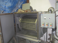 Fence -- Swiss Foundry -- sandblasting machine.