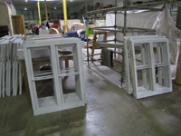 Windows and Doors - SRS Corp. -- window sashes repaired and primed.
