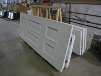 Doors and Windows -- SRS Corp. -- repaired and primed doors - September 28, 2010