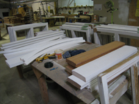 Doors and Windows -- SRS Corp. -- new window frame elements (sills, frames) for where repair was not possible - September 28, 2010