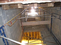 Ground Floor (Basement) - Elevator shaft looking up - October 11, 2010