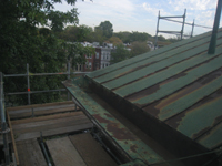 Roof - West side of north roof over Pennsylvania Ave. entrance, looking north - October 11, 2010