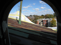 Roof--View north from east room - October 29, 2010