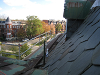 Roof--View east from north side of east room - October 29, 2010