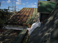 Roof--South side looking west from east room - October 29, 2010
