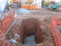 Geothermal/HVAC--Hole for geothermal vault - November 8, 2010