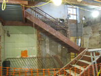 Ground Floor (Basement) - West staircase installation - November 17, 2010