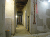 First Floor - Corridor looking west (with electrical box) - December 2, 2010