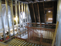 Third Floor--Top of west stairwell - December 2, 2010