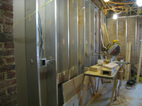 Ground Floor (Basement)--Walls and electric in south west room - December 28, 2010
