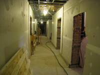 Ground Floor--View towards east in corridor - February 18, 2011