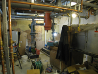 Ground Floor--Mechanical room with HVAC unit - February 18, 2011
