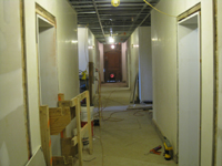 Ground Floor (Basement)--Corridor looking east - March 15, 2011