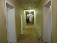 Ground Floor (Basement)--Looking west from east end of corridor - April 9, 2011