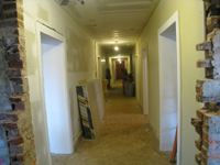 Ground Floor (Basement) --Looking east from west end of corridor (new main entrance) - April 9, 2011