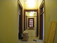 Second Floor--Looking east in the main corridor at newly painted window and door frames - April 9, 2011