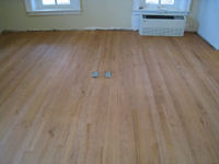 Second Floor--North west corner room with new flooring (to match original) - April 9, 2011