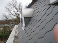 Roof--New slate mansard roof-- east side looking south - April 9, 2011