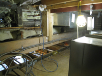 Geothermal/HVAC--Installation of air handler in the ceiling of the third floor - April 20, 2011