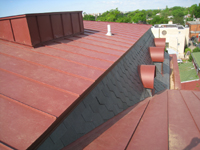 Roof--North side of room looking west, with elevator protrusion on left - April 29, 2011