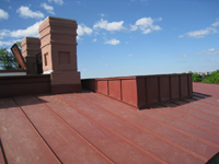 Roof--North side of roof with elevator protrusion, looking south - April 29, 2011