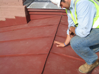 Roof--Detail of how the seams are handled, the original way - April 29, 2011