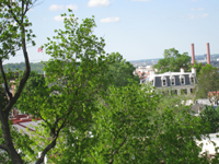 Roof--View of Commandant's Residence from Widow's Walk - April 29, 2011