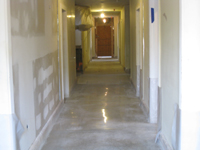 Ground Floor (Basement) --Polished concrete floor - April 29, 2011