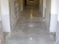 Ground Floor (Basement) --Polished concrete floor, detail - April 29, 2011