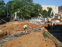 Grounds--Sidewalk construction and dumpster area - June 2, 2011