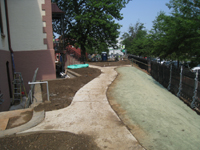 Grounds--North (Pennsylvania Ave.) side with new sidewalks and landscaped slope - June 10, 2011