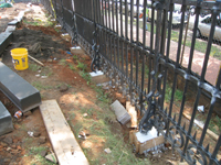Fence--Forms filled with Jahn concrete - June 10, 2011