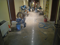 Ground Floor (Basement) --Polished floor looking north from south entrance - June 10, 2011