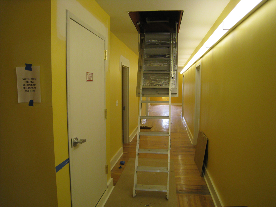 Third Floor--Stair to attic and roof - June 10, 2011