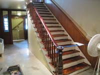 Ground Floor (Basement) --Main staircase, newly refinished - June 17, 2011
