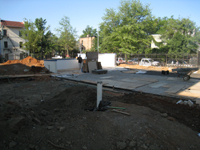 Grounds--Parking pad and base for rain garden - June 29, 2011