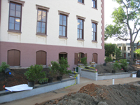 Grounds--Main entrance near completion - June 29, 2011