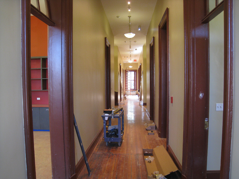 First Floor--Corridor looking east from west end - June 29, 2011