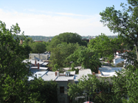 Roof--View to the south from the roof - June 29, 2011
